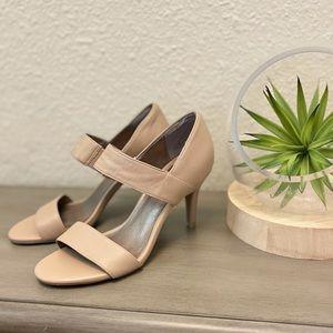 Moda Spana Women's Like New Nude Sandal Pump Sz 7M